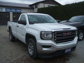 Used 2018 GMC Sierra 1500 Reg. Cab, 8Ft Box, 5.3L V8, 2WD for sale in Beaverton, ON