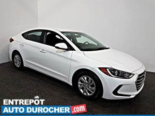 Used 2017 Hyundai Elantra LE Automatique - AIR CLIMATISÉ - Sièges Chauffants for sale in Laval, QC