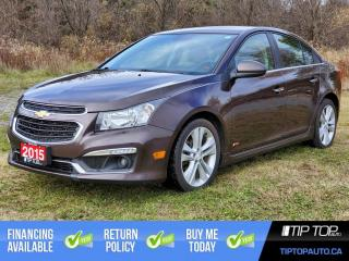 Used 2015 Chevrolet Cruze LTZ ** Clean CarFax, Nav, Sunroof, RS Package ** for sale in Bowmanville, ON