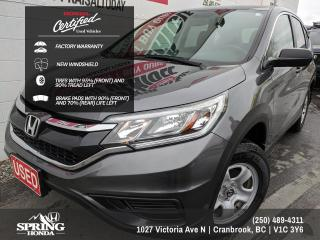 Used 2016 Honda CR-V LX FACTORY WARRANTY, NEW WINDSHIELD, TIRES IN GREAT SHAPE, WELL MAINTAINED for sale in Cranbrook, BC