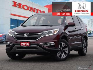 Used 2016 Honda CR-V Touring HEATED SEATS | APPLE CARPLAY™ & ANDROID AUTO™ | GPS NAVIGATION SYSTEM for sale in Cambridge, ON