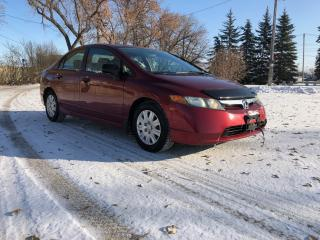 Used 2006 Honda Civic DX-G Remote Start! Alloys! Nice Tires! for sale in Winnipeg, MB