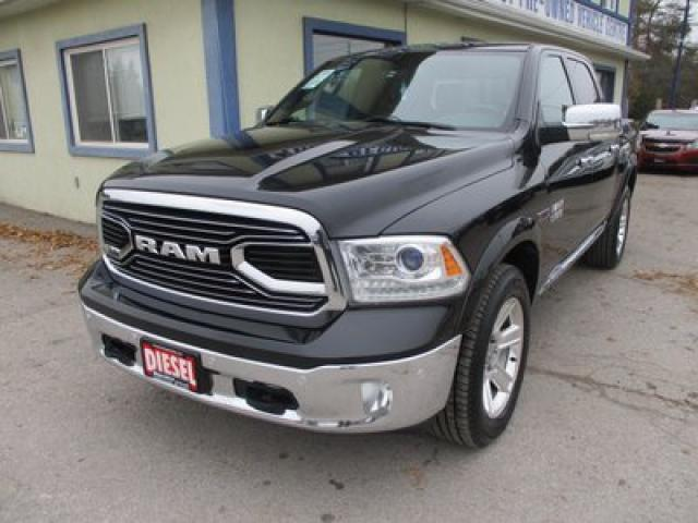 2016 Dodge Ram 1500 LOADED LIMITED EDITION 5 PASSENGER 3.0L - ECO-DIESEL.. 4X4.. CREW.. SHORTY.. NAVIGATION.. LEATHER.. HEATED/AC SEATS.. SUNROOF.. BACK-UP CAMERA..