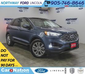 Used 2019 Ford Edge Titanium | AWD | NAV | PWR LEATHER | PANOROOF | for sale in Brantford, ON