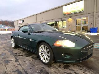 Used 2007 Jaguar XK Convertible V8 4.2L Jaguar Racing Grn leather NAV for sale in St. George Brant, ON