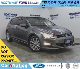 Used 2015 Volkswagen Golf Highline | DIESEL | PWR  HTD LEATHER | SUNROOF | for sale in Brantford, ON