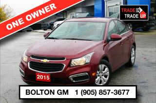 Used 2015 Chevrolet Cruze 1LT - Bluetooth -  SiriusXM - $106 B/W for sale in Bolton, ON