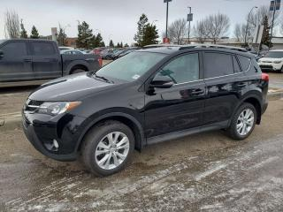 Used 2015 Toyota RAV4 LIMITED; BLUETOOTH, BACKUP CAM, LEATHER, HEATED SEATS, SUNROOF AND MORE for sale in Edmonton, AB