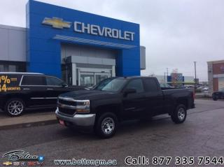 Used 2017 Chevrolet Silverado 1500 WT - MyLink -  Bluetooth - $183 B/W for sale in Bolton, ON
