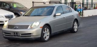 Used 2003 Infiniti G35 CERTIFIED, 2 years WARRANTY  includedLuxury for sale in Mississauga, ON