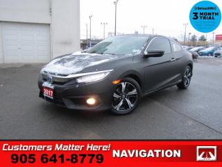 Used 2017 Honda Civic COUPE Touring  NAV LEATH ROOF HS for sale in St. Catharines, ON
