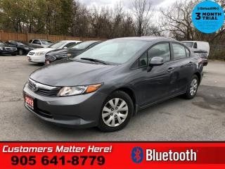 Used 2012 Honda Civic Sedan LX  BLUETOOTH AUTO S/W-AUDIO for sale in St. Catharines, ON