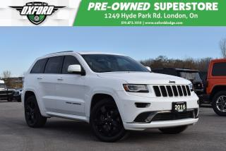 Used 2016 Jeep Grand Cherokee Overland - No Accidents, EcoDiesel, Well Maintaine for sale in London, ON