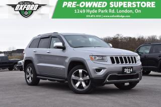 Used 2014 Jeep Grand Cherokee Limited - Low Kms, Roof Rack, GPS for sale in London, ON