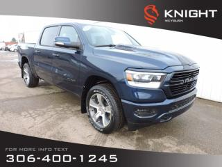 New 2020 RAM 1500 Sport Crew Cab 4x4 | 5.7L HEMI V8 | 124L fuel tank | Leather Heated Seats | Sunroof | Back-up Camera for sale in Weyburn, SK