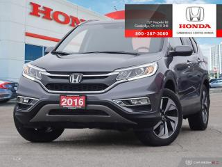 Used 2016 Honda CR-V Touring HONDA SENSING TECHNOLOGIES | HEATED FRONT SEATS | REARVIEW CAMERA WITH DYNAMIC GUIDELINES for sale in Cambridge, ON
