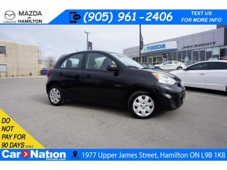 Used 2017 Nissan Micra S | A/C | CLIMATE CONTROL | AUX INPUT | CRUISE for sale in Hamilton, ON