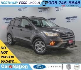 Used 2017 Ford Escape S | BACKUP CAM | KEYLESS ENTRY | ROOF RAILS | for sale in Brantford, ON