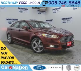 Used 2016 Ford Fusion SE | PWR HTD SEATS | BACKUP CAM | WINTER PKG | for sale in Brantford, ON