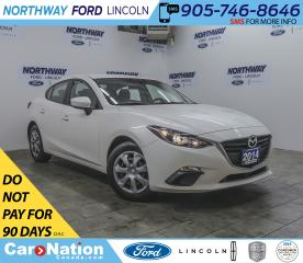 Used 2014 Mazda MAZDA3 GX-SKY | KEYLESS ENTRY | PUSH START | USB+AUX | for sale in Brantford, ON