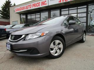 Used 2015 Honda Civic LX-AUTO-BACK UP CAMERA -HEATED-BLUETOOTH for sale in Scarborough, ON