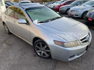 Used 2004 Acura TSX AUTO/ LEATHER/ SUNROOF/ PWR SEAT/ PWR GROUP! for sale in Scarborough, ON