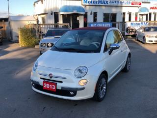 Used 2013 Fiat 500 Lounge- ACCIDENT FREE- WE FINANCE for sale in Stoney Creek, ON