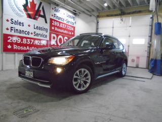 Used 2012 BMW X1 AWD GAS SAVER  28i LOW KM B-TOOTH SUNROOF LEATHER for sale in Oakville, ON