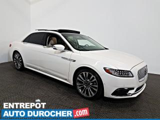 Used 2017 Lincoln Continental Reserve AWD NAVIGATION - Toit Ouvrant - A/C - CUIR for sale in Laval, QC