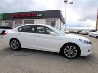 Used 2014 Honda Accord Sport Sedan 2.4L Automatic Camera Certified for sale in Milton, ON