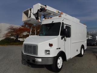 Used 2005 Freightliner MT55 Bucket Truck With Air Brakes Diesel Cube Van for sale in Burnaby, BC