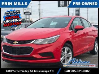 Used 2017 Chevrolet Cruze LT  - Heated Seats -  Touch Screen for sale in Mississauga, ON