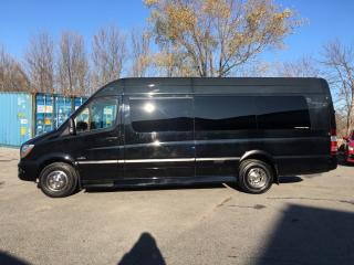 Used 2017 Mercedes-Benz Sprinter 3500 Chassis V6 - 13,000 MILES! 10 PASSENGER! NAV! LEATHER! FLAT SCREENS! WIFI! LOADED! for sale in Belleville, ON