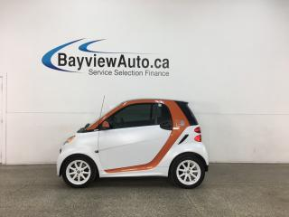 Used 2016 Smart fortwo electric drive Passion - AUTO! NAVIGATION! HTD LEATHER! ONLY 37,000KMS! for sale in Belleville, ON