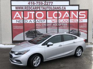 Used 2016 Chevrolet Cruze LT Auto LT-ALL CREDIT ACCEPTED for sale in Scarborough, ON