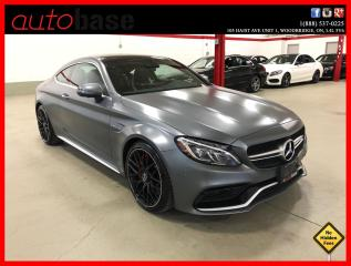 Used 2017 Mercedes-Benz C-Class C63 S AMG PREMIUM 360 CAM MATTE FINISH CLEAN CARFAX for sale in Vaughan, ON