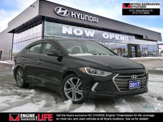 Used 2017 Hyundai Elantra Limited  - Navigation -  Sunroof - $74.08 /Wk for sale in Nepean, ON