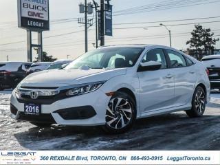 Used 2016 Honda Civic Sedan EX  - Sunroof -  Bluetooth for sale in Etobicoke, ON