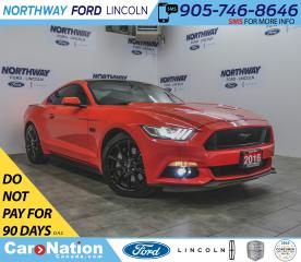Used 2016 Ford Mustang GT Premium | V8 | NAV | BLACK PKG | LEATHER RECARO for sale in Brantford, ON