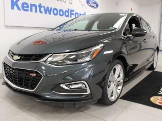 Used 2018 Chevrolet Cruze Premier RS FWD hatchback with heated power leather seats, heated steering wheel, push start/stop and a back up cam for sale in Edmonton, AB