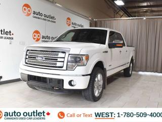 Used 2014 Ford F-150 Platinum, 3.5L V6, EcoBoost, 4x4, Crew cab, Short box, Navigation, Heated leather seats, Backup camera, Sunroof, Bluetooth for sale in Edmonton, AB