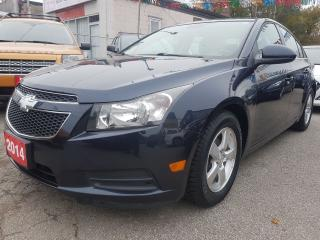 Used 2014 Chevrolet Cruze 1LT-EXTRA CLEAN-BK UP CAM-BLUETOOTH-AUX-USB-ALLOYS for sale in Scarborough, ON