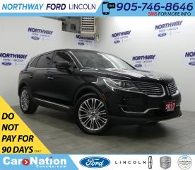 Used 2017 Lincoln MKX Reserve | AWD  | NAV | PANOROOF | REAR CAMERA for sale in Brantford, ON