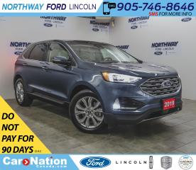 Used 2019 Ford Edge Titanium  | AWD | NAV | PWR LEATHER | PANOROOF for sale in Brantford, ON