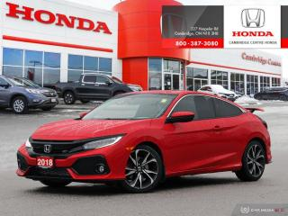Used 2018 Honda Civic Si MANUAL TRANSMISSION | LEATHER-WRAPPED STEERING WHEEL | APPLE CARPLAY™ & ANDROID AUTO™ for sale in Cambridge, ON