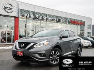 Used 2016 Nissan Murano SL AWD | LEATHER | 360 CAM | BLIND SPOT | PWR SEAT for sale in Richmond Hill, ON