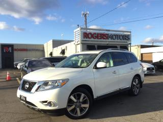 Used 2016 Nissan Pathfinder PLATINUM 4WD - NAVI - 7 PASS - PANO ROOF for sale in Oakville, ON