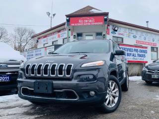 Used 2015 Jeep Cherokee Limited|NAV|REARVIEW|LANEASSIST|LEATHER & MORE! for sale in Guelph, ON