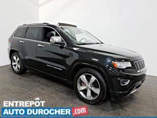 Used 2016 Jeep Grand Cherokee Overland DIESEL AWD NAVIGATION - Toit Ouvrant -A/C for sale in Laval, QC