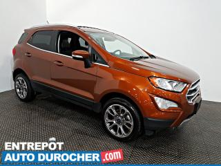 Used 2018 Ford EcoSport Titanium AWD NAVIGATION - Toit Ouvrant - A/C -Cuir for sale in Laval, QC